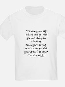 Thornton Wilder Kids T-Shirt