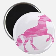 Pink Camo Horse Magnet