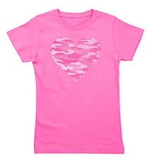 Pink Camo Heart Girl's Tee