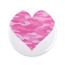 "Pink Camo Heart 3.5"" Button"