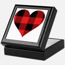Red PLaid Heart Keepsake Box