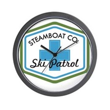 Steamboat Ski Patrol Patch Wall Clock