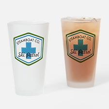 Steamboat Ski Patrol Patch Drinking Glass
