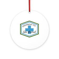 Steamboat Ski Patrol Patch Round Ornament
