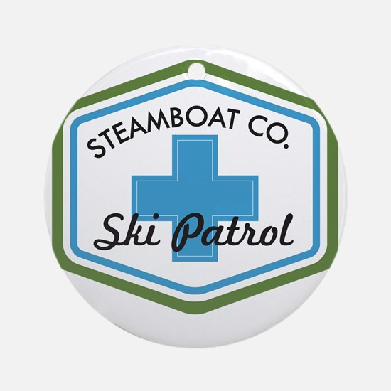 Steamboat Ski Patrol Patch Round Ornament