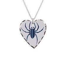 Blue Striped Spider Necklace