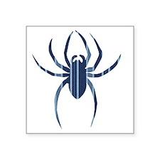 """Blue Striped Spider Square Sticker 3"""" x 3"""""""