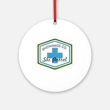 Snowmass Ski Patrol Patch Round Ornament