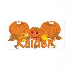 Halloween Pumpkin Kaiden Aluminum License Plate
