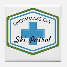Snowmass Ski Patrol Patch Tile Coaster