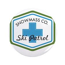 "Snowmass Ski Patrol Patch 3.5"" Button"