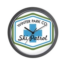 Winter Park Ski Patrol Patch Wall Clock