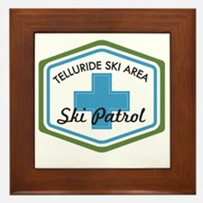 Telluride Ski Patrol Patch Framed Tile