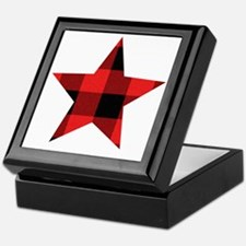 Red Plaid Star Keepsake Box