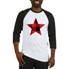 Red Plaid Star Baseball Jersey