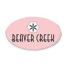 Beaver Creek Retro Patch Oval Car Magnet
