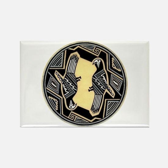 MIMBRES PARROTS BOWL DESIGN Rectangle Magnet