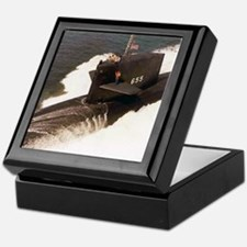sp uss henry l stimson small poster Keepsake Box