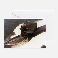 sp uss henry l stimson small poster Greeting Card
