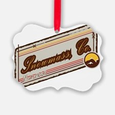 Snowmass Mountain Patch Ornament