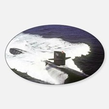 gc uss houston greeting card Sticker (Oval)