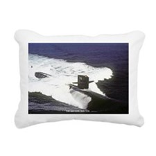 gc uss houston greeting  Rectangular Canvas Pillow