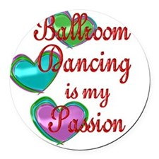 Ballroom Dancing Passion Round Car Magnet