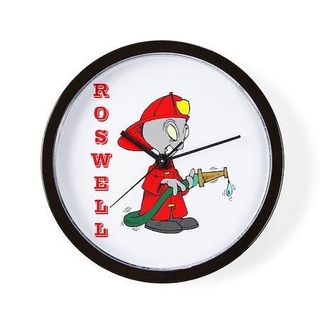 Roswell Alien Firefighter Wall Clock