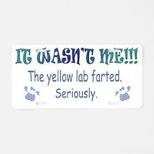 yellow lab Aluminum License Plate