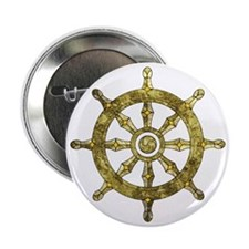 "Dharmacakra - Wheel Of Dharma 2.25"" Button"