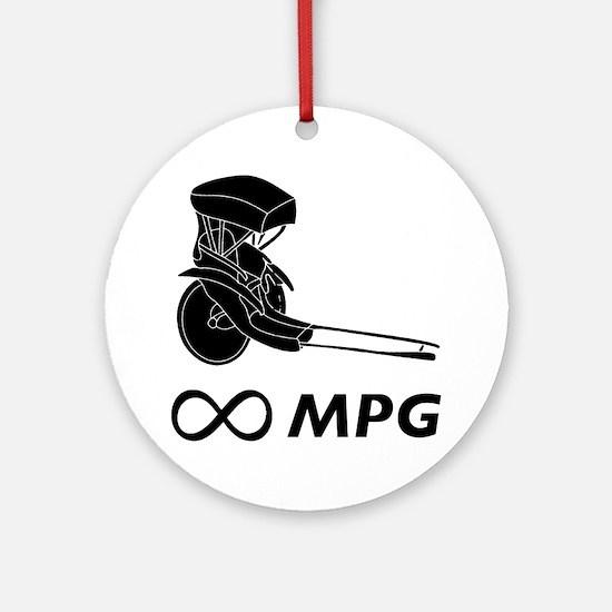 Rickshaw Infinity MPG Round Ornament