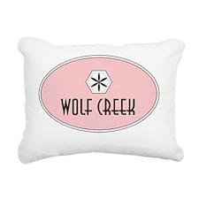 Wolf Creek Retro Patch Rectangular Canvas Pillow