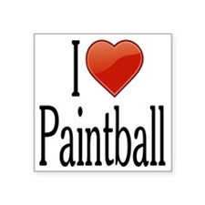 "I Love Paintball Square Sticker 3"" x 3"""