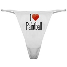 I Love Paintball Classic Thong