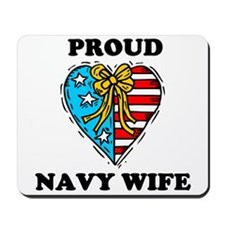 Navy Wife Heart Mousepad