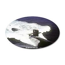 st uss houston sticker Wall Decal