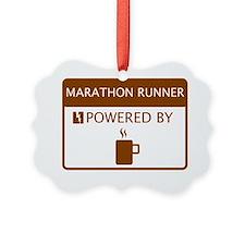 Marathon Player Powered by Coffee Ornament
