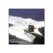 "nc uss houston note card Square Sticker 3"" x 3"""