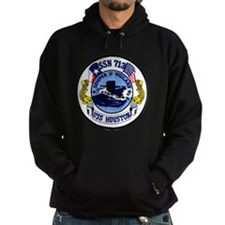 uss houston patch transparent Hoodie