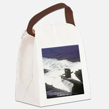 nc uss houston note card Canvas Lunch Bag