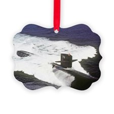 nc uss houston note card Ornament