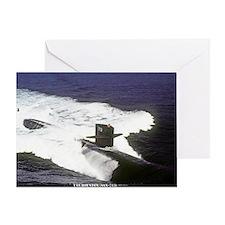 pc uss houston post card Greeting Card