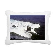 pc uss houston post card Rectangular Canvas Pillow