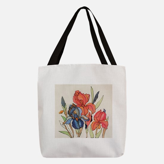 IRIS FLOWER Polyester Tote Bag