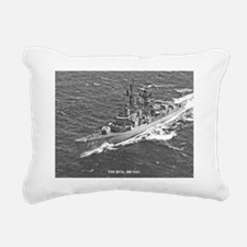 nc uss hull note card Rectangular Canvas Pillow