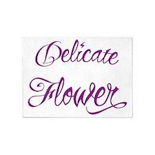 Delicate Frickin Flower 5'x7'Area Rug
