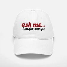 ask me Baseball Baseball Cap