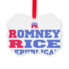 Romney Rice Republican 2012 Ornament