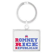 Romney Rice Republican 2012 Landscape Keychain