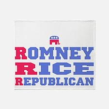 Romney Rice Republican 2012 Throw Blanket